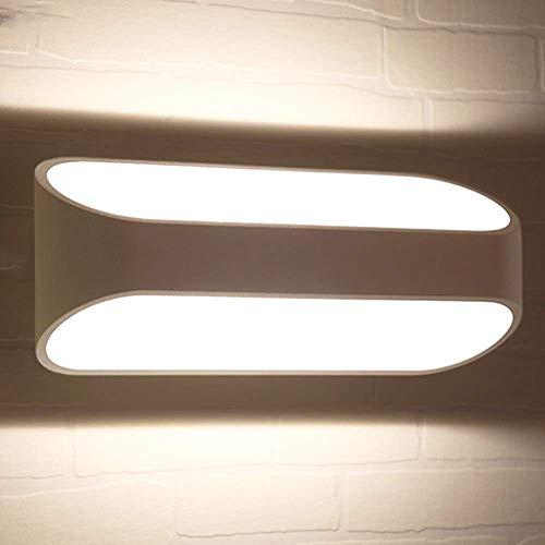 Osairous Lampada da Parete a LED, Ø26CM Applique da Parete in Alluminio, Lampada a Muro LED Moderno per Soggiorno Garage Ristorante Bianco Caldo 3000K IP44