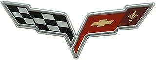 2005-2013 C6 Corvette Front Hood Crossed Flags Badge; OEM Factory Emblem