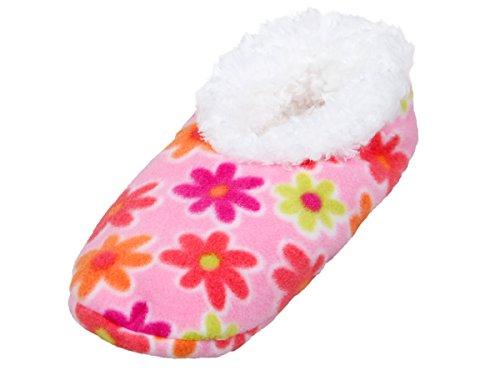 Alsino Snoozies Hausschuhe Puschen Schuhe kuschelig bunt Damenhausschuhe 02/6003 Blumen bunt; 40-41