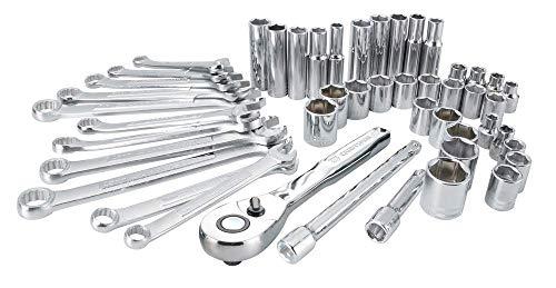 Craftsman – Juego de herramientas mecánicas SAE/métrica, almacenamiento suave, 47 piezas (CMMT12019)
