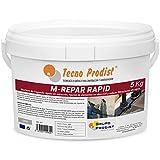 M-REPAR RAPID de Tecno Prodist - (5 kg) Mortero de fraguado rápido sin retracción, fijación de elementos en obra civil y sellado de filtraciones de agua. Color Gris