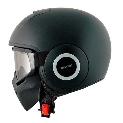 Shark-Raw-Motorradhelm - offen mit Schutzbrille - geeignet für Brillenträger - Mod J&S