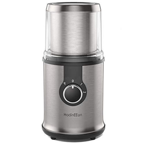 HadinEEon Electric Coffee grinder, 300W Detachable Coffee and Spice Grinder, Automatic Coffee Grinder with Removable Bowl, Compact Stainless Steel...