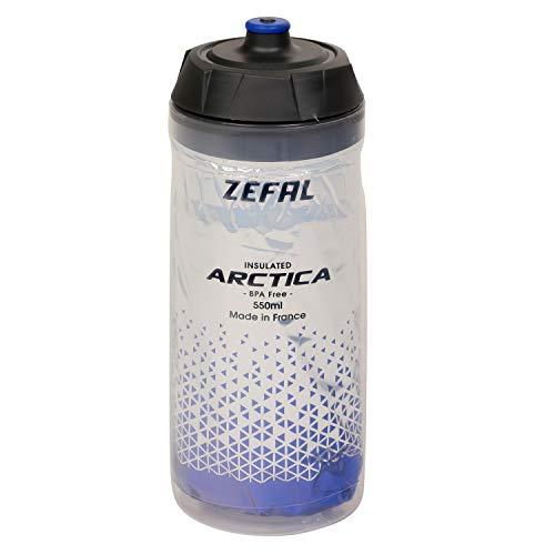 ZEFAL 55 Arctica-Bidon 550 y 750 ML-Botella de bicicleta isotérmica sin BPA y resistente al agua, color azul