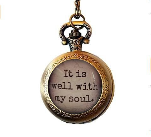 It is Well with My Soul, Glass Dome Necklace, Pendant, Gift idea, Hostess Gift, Favor, Key Ring, Hymn, Religious Gift for Girls Gift POCKETWATCH