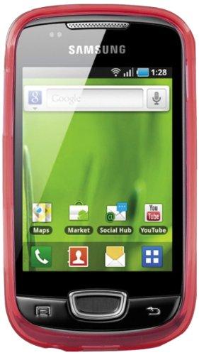 Phonix S5570GPR Custodia Gel Protection Plus con Pellicola Proteggi Schermo per Samsung Galaxy Next S5570, Rosso