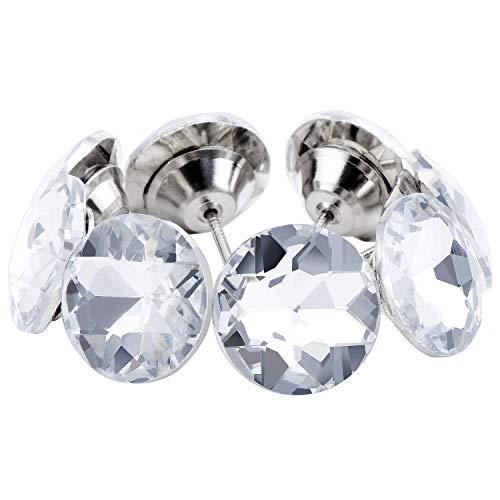 Coolty 60 Stück 30mm Kristallkopf-Polsternägel, Polsterung Nägel Möbel Reißnägel für dekorative Sofa Möbelnadel Handwerk Basteln