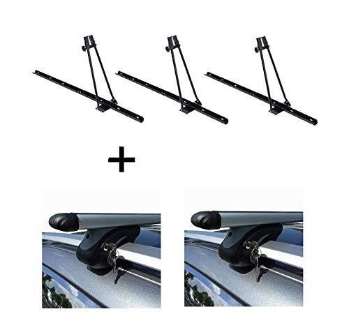 VDP 3X fietsendrager Orion + raildrager L120 compatibel met Ford Focus Combi 01-11