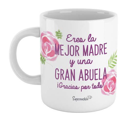 SUPERMOLON Taza'Eres la mejor madre y una gran abuela (gracias por todo)'