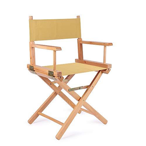 Nachar Canvas Directors stolskydd med 1 par hållbara ersättningssätesskydd, mögelbeständig, tvättbar och 4 färger används för regissörsstolar vardaglig hem regissörsstol