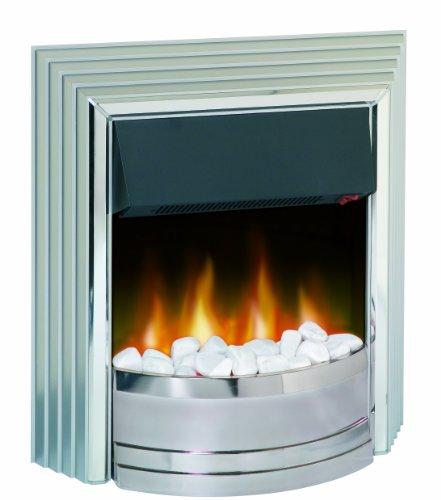Dimplex CST20 Castillo 2 KW Freestanding Optiflame Electric Fire, Silver, 66.5 cm*22.6 cm*60.3 cm