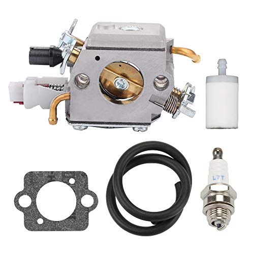 Fuel Li 503283210 Carburetor for Husqvarna 340 340E 345 345E 346XP 350 350EPA 353 Jonsered Chainsaw Replaces ZAMA EL32 Carb with Tune-Up Kit