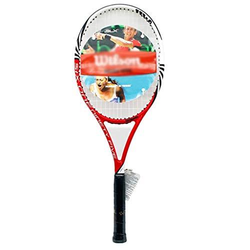 Raquetas De Tenis De 27 Pulgadas Cuerda De Tenis Hombres Equipo De Tenis para Adultos Niños (Color : Red, Size : 27 Inches)
