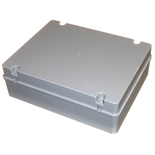 Caja de conexiones grande de 380 mm x 300 mm x 120 mm, IP56, resistente al agua, con lados lisos.