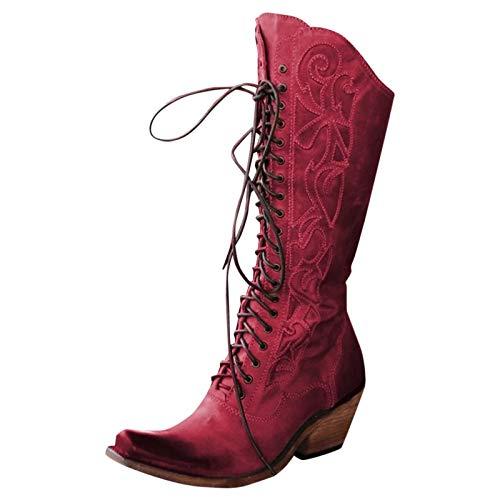 manadlian Bottine Femme Hiver 2020 Chaussures de Neige Boots Fourrees Mode Courts avec Doublure Chaude Basket Coton Shoes Cuir Sneakers Cheville Plates Bottes