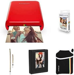 Polaroid Zip Mobile Photo Mini Printer (Red) with Extra Paper, Album, Case, Colorful Neck/Hand Strap
