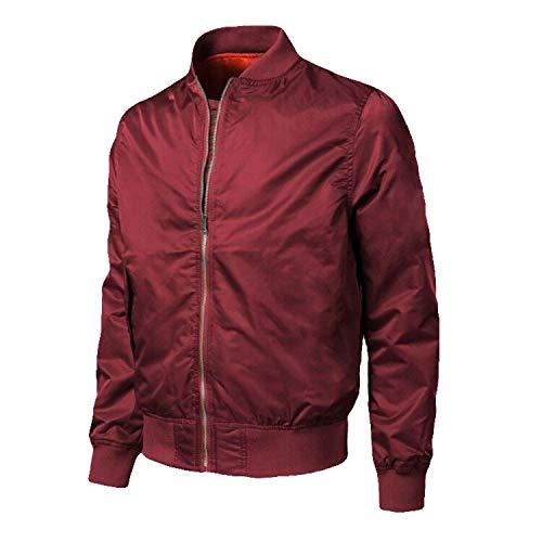 Denim Mens Jacket Wool Liner Thicker Coats Winter Jeans Jacket Men Thick Warm,Red,M