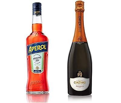 Aperol Spritz - Aperol Aperitivo, 70 cl with Cinzano Prosecco DOC Non Vintage, 75 cl