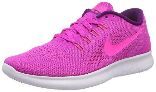 Nike Damen Free RN Laufschuhe, Pink (PINK/PINK Blast-weiß-Blau Glow), 35.5 EU