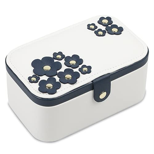 yzf Caja de Almacenamiento de Joyas, Caja de joyería de patrón Litchi, Utilizado para almacenar Anillos, Pulseras, Pendientes, Collares, Regalos de Las señoras