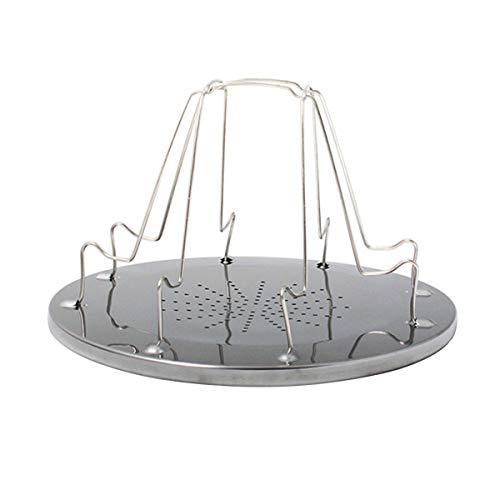 Greatangle Estante de Tostado portátil Simple de Acero Inoxidable Tostadora para Acampar al Aire Libre Parrilla portátil Plegable Parrilla de Estufa Multiusos Silver