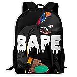 Shark Pattern Blood Backpack For Travel Laptop Daypack 3d Print Bag For Men 1