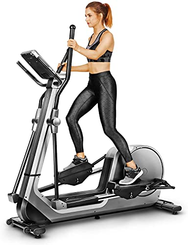 Sportstech Premium Cross Trainer for at Home | German Quality Company | Android Console + Video Events & Multiplayer App | Home Elliptical Trainer 24kg Mass | 12 Programmes & HRC Mode | LCX800