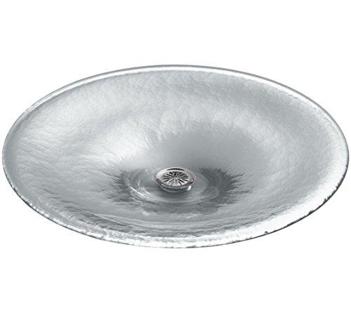 KOHLER K-2367-B11 Lavinia Vessels Glass Bathroom Sink, Ice