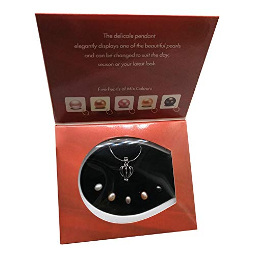 Forart Love Wish Pearl Kit with Pendant Necklace Chain Pendant 5Pcs Pearl in Kit Set Gift for Valentine's Day Mother's Day Birthday