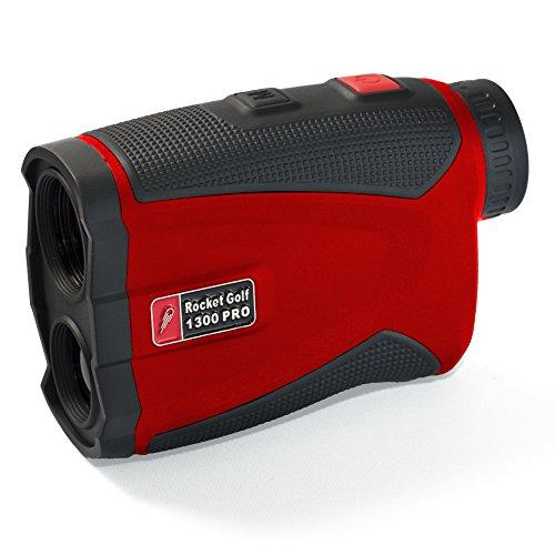Golflaser.de - Golf Laser Entfernungsmesser Birdie 1300 Pro Red - FlagFinder - Wasserabweisend -Rangefinder RocketGolf