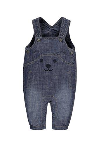 Steiff Baby-Mädchen Jeans 6712002 Latzhose, Blau (Blue Denim 0013), 56