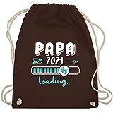Shirtracer Vatertagsgeschenk - Papa 2021 loading Babyfüße weiß - Unisize - Braun - Vatertag -...