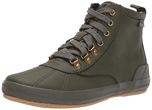 Keds Women's Keds Scout Boot Matte Twill Ankle Boot, Olive, 7.5 M US