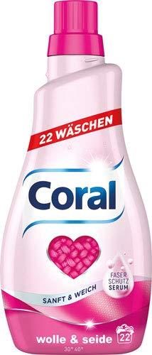 Coral Wolle & Seide, flüssig - 6X 22 Waschgänge