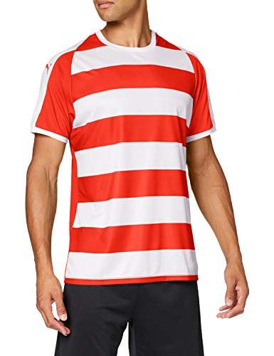 Puma Liga Jersey Hooped T-Shirt Homme Rouge FR : XL (Taille Fabricant : XL)