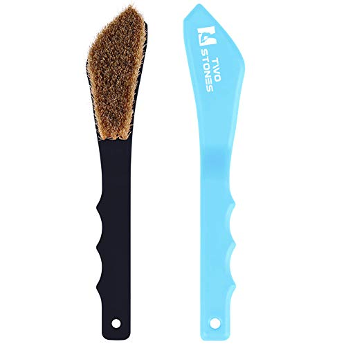 Boar Hair Rock Climbing Brush with Ergonomic Handle, Bouldering Boulder Brush as Durable Cleaning...