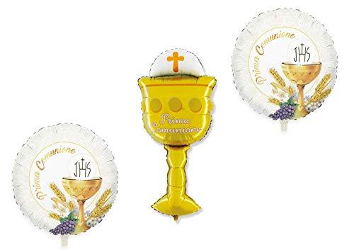 Party Store Web by huis schattig huis communie meisjes ballon Foil SUPERSHAPE Kit Bouquet CENTROTAVOLA Communie met Aria O Elio - CDC - (2 luchtballonnen Foil, 1 Supershape)