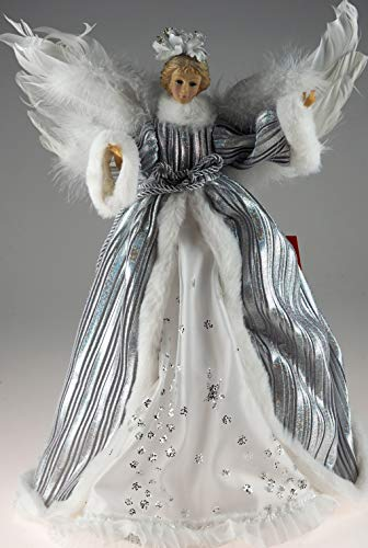 Lesser & Pavey XL 40cm Silver Christmas Angel/Fairy - Ornament Or Large Tree Topper Decoration
