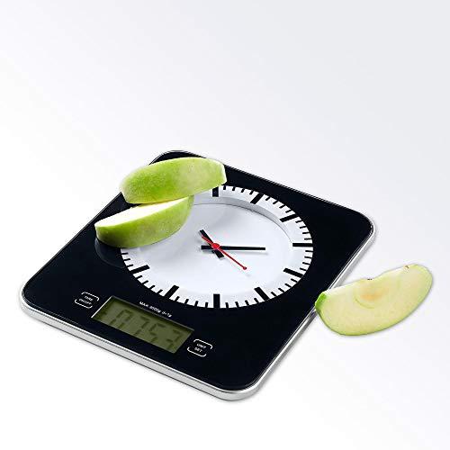 ADE KE1245 Vicky Báscula digital de cocina, 3 kg, Cristal, Negro
