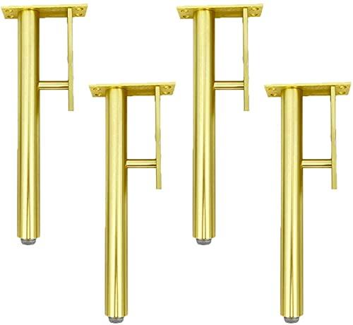 WYBW Pies de soporte para muebles, 4 piezas de patas de muebles, aleación de aluminio ajustable, de repuesto, patas de soporte para muebles, patas de armario, patas de cama, patas de mesa, patas de s