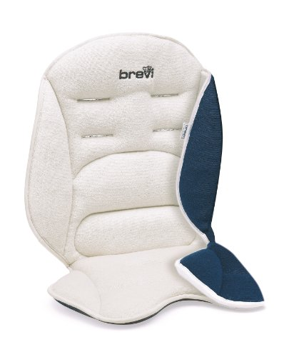 Brevi 021 Universal - Materassino Fasciatoio Unisex - Bambino, Bianco (Bianco/Blu), 47 cm x 82 cm