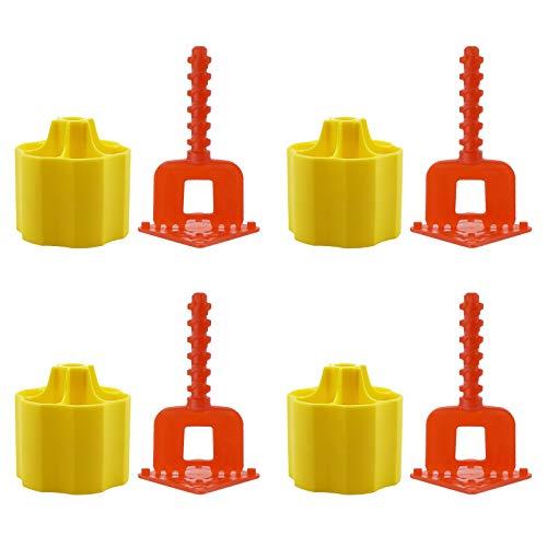 Juego de herramientas de nivelación de azulejos de 2 mm, 200 unidades, nivelador plano base separadores clips y tapas para herramientas de construcción de suelo y pared