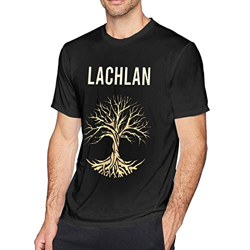 La-Chlan Power Logo T-Shirt Man Crew Short Sleeve Tees Casual Blouse Tops for Unisex Adult Black