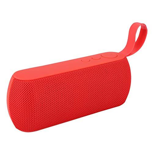Bluetooth draagbare luidspreker, Outdoor BT draadloze stoffen luidspreker, stereoluidspreker opladen Ingebouwde 1200 mAh lithiumbatterij(Rood)