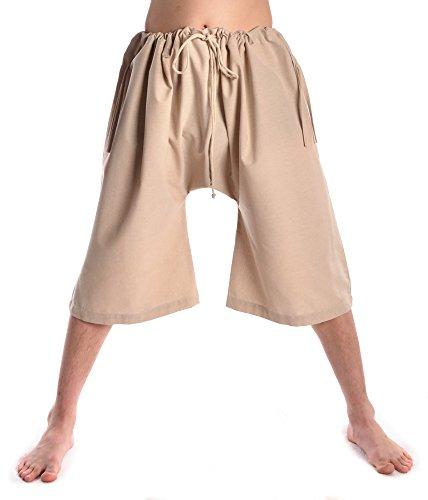 HEMAD Mittelalter Bruche aus Fester Baumwolle beige Unterhose