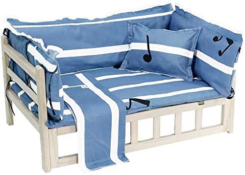 UIZSDIUZ Haustierbett Hundebett Holz-Haustier-Bett, mit Matratze, Weg von dem feuchten Boden, Geeignet for Teddy, Katzenbett (Color : Style1, Size : L(95×55×40cm))