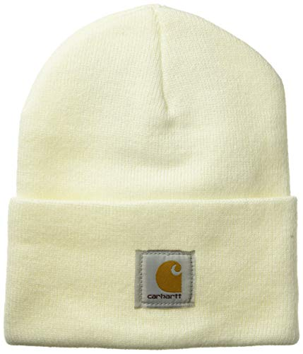 Carhartt Men's Knit Cuffed Beanie, Deep Winter White, One Size