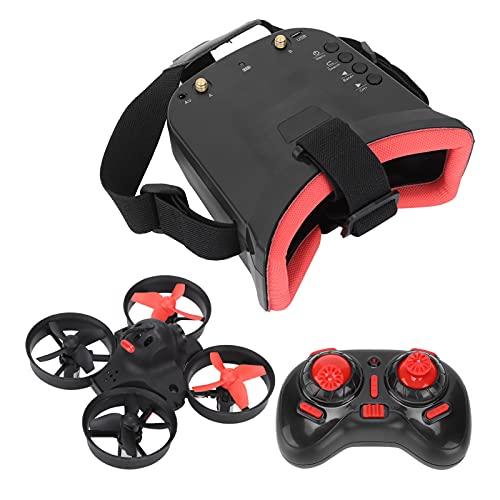 VGEBY Kamera-Hubschrauber-Drohne, Micro RC Racing Quadcopter mit 5.8G 40CH-Kamera 3-Zoll-Brille VR-Headset-Drohne