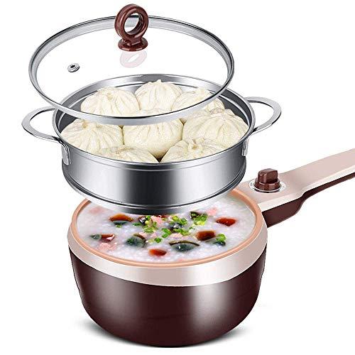 Multi-function elektrische koekenpan mini elektrische hot pot eierkoker met roestvrij stalen stoomschip geschikt for slaapzaal studenten en outdoor picknick (38 * 19 * 16cm) AQUILA1125
