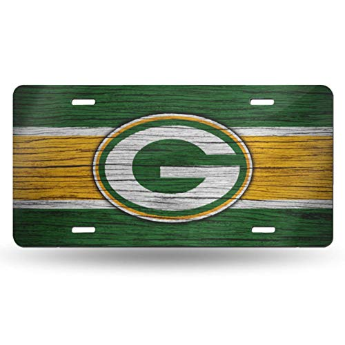 VF LSG Green Bay Packers License Plate Frame,Newest Unbreakable License Plate Cover Universal American Auto Easy Installation 12x6 inch